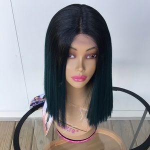 TT1b/Green Premium synthetic lace Front wig
